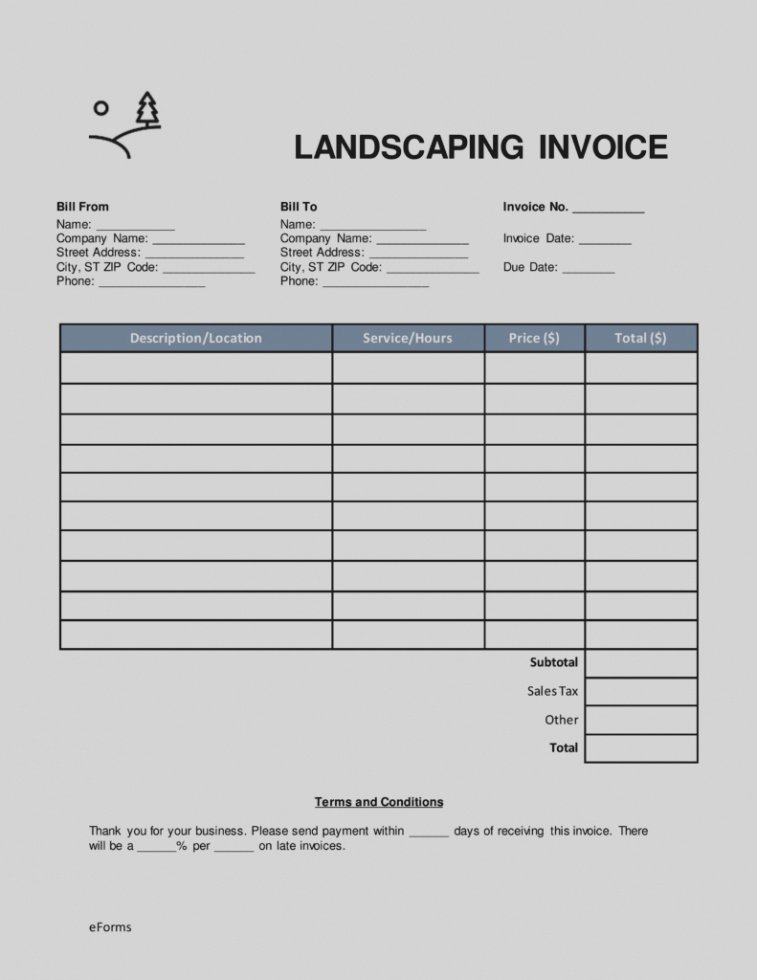 Landscaping Invoice Template Free Best Of Free Landscaping Invoice Template Word Lawn Mowing Invoice