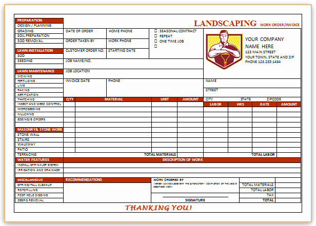 Landscaping Invoice Template Free Inspirational 10 Free Landscaping Invoice Templates [professional