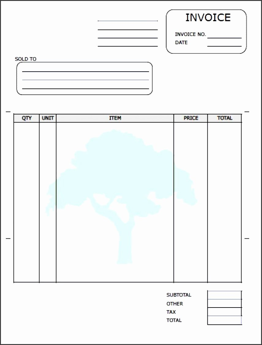 Landscaping Invoice Template Free Lovely 9 Free Printable Invoice Templates Sampletemplatess