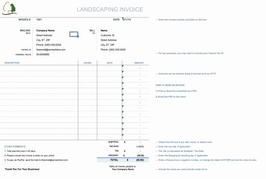 Landscaping Invoice Template Free Luxury 25 Free Invoice Templates for Ms Word Xdesigns