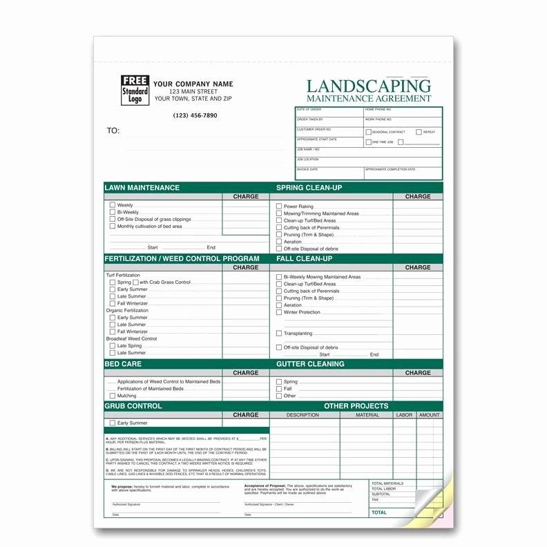 Landscaping Work order Template Best Of Landscaping Work order