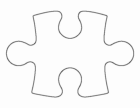 Large Puzzle Piece Template Beautiful Puzzle Piece Pattern Use the Printable Outline for Crafts