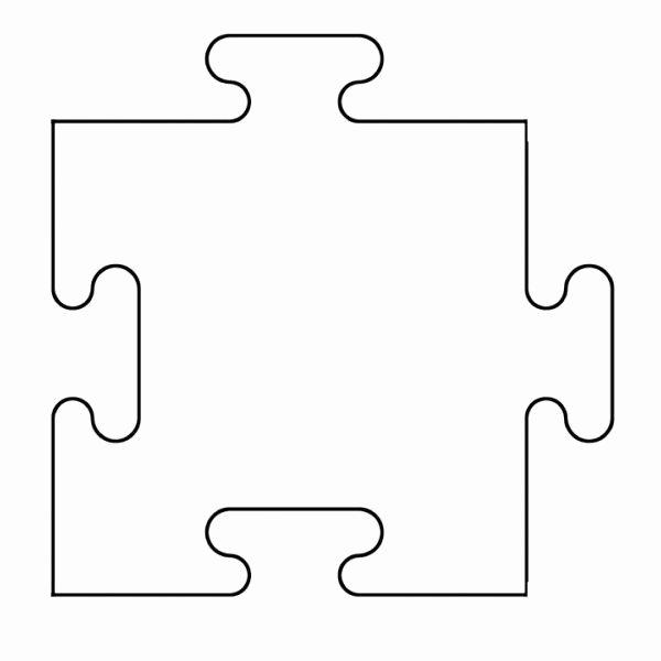 Large Puzzle Piece Template Beautiful Puzzle Piece Template Printable Free