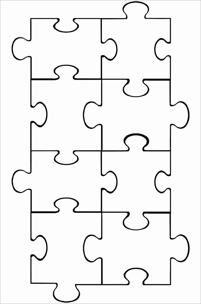 Large Puzzle Piece Template Inspirational Best 25 Puzzle Piece Template Ideas On Pinterest