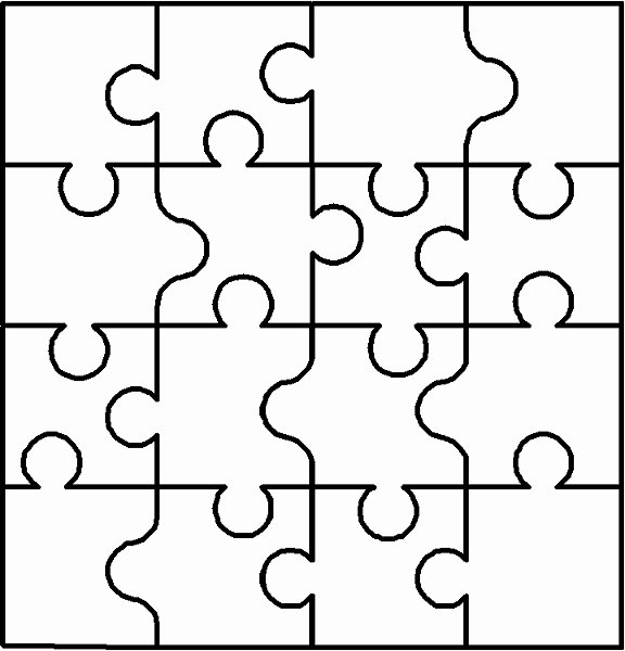 Large Puzzle Piece Template Lovely Sandwich Pieces Coloring Page Blank Puzzles Grig3