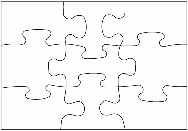 Large Puzzle Piece Template Luxury Puzzle Clipart Plain Pencil and In Color Puzzle Clipart