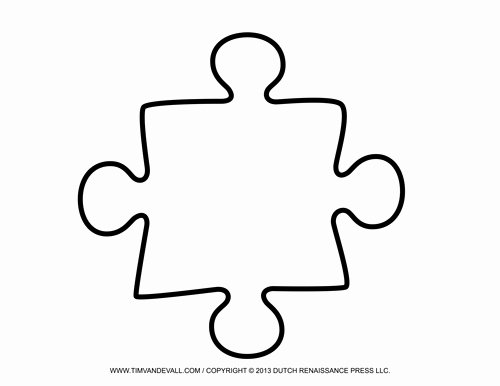 Large Puzzle Piece Template New Blank Puzzle Piece Template Free Single Puzzle Piece