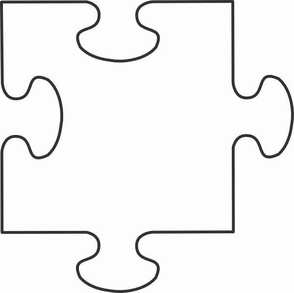 Large Puzzle Piece Template New Blank Puzzle Pieces