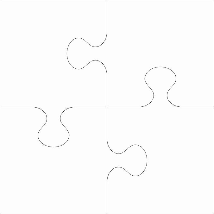 Large Puzzle Piece Template Unique Best 25 Puzzle Piece Template Ideas On Pinterest