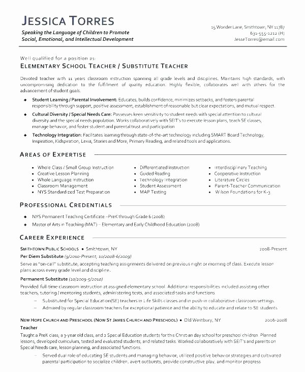 Latex Academic Cv Template Fresh Teachers Resume Samples Stunning Teacher Examples Free