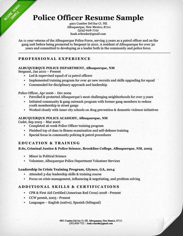 Law Enforcement Resume Template Best Of Law Enforcement Resume Templates