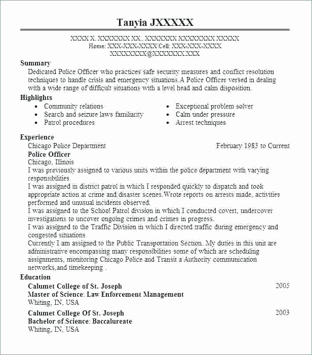 Law Enforcement Resume Template Luxury Beaufiful Law Enforcement Resume Examples S Resume