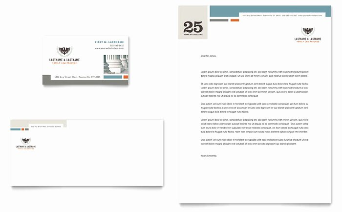 Law Firm Letterhead Template Fresh Family Law attorneys Business Card & Letterhead Template