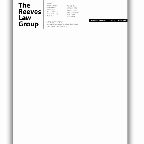 Law Firm Letterhead Template Fresh Law Firm Letterhead Design