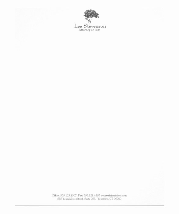 Law Firm Letterhead Template Inspirational 21 Law Firm Letterhead Templates Free Word Pdf format