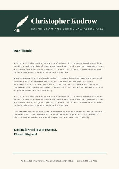 Law Firm Letterhead Template Inspirational Customize 37 Law Firm Letterhead Templates Online Canva