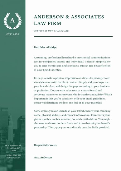 Law Firm Letterhead Template Lovely Customize 38 Law Firm Letterhead Templates Online Canva