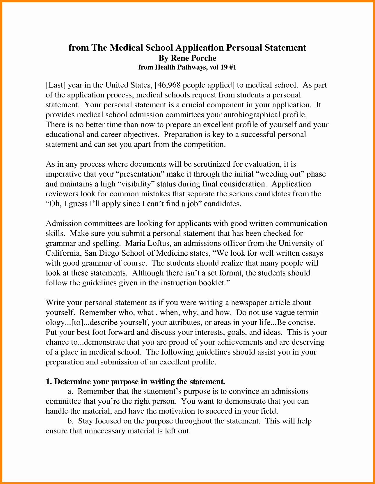 Law School Outline Template Lovely 7 Personal Statement Outline Example