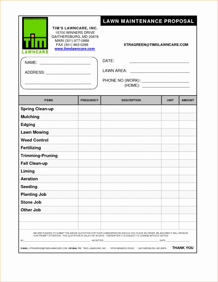 Lawn Care Bid Template Elegant 13 Lawn Care Bid Sheet Ayenka Templates
