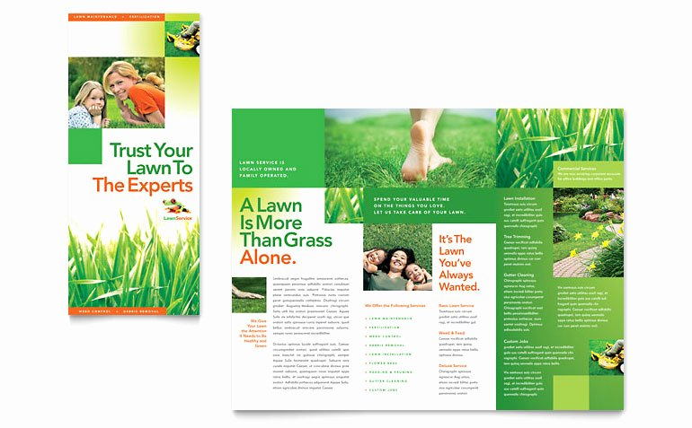Lawn Care Flyer Template Beautiful Lawn Maintenance Tri Fold Brochure Template Word & Publisher