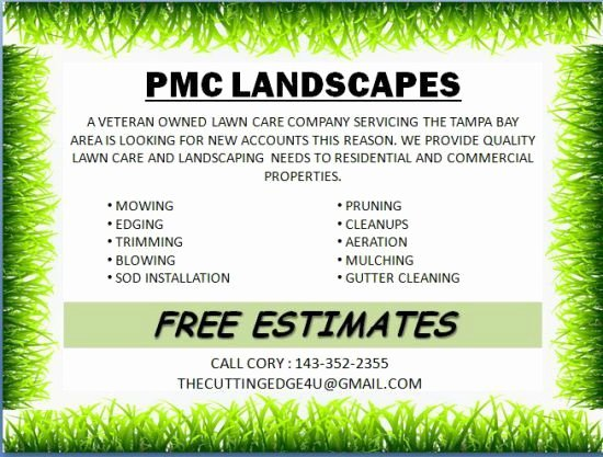 Lawn Care Flyer Template Elegant Landscaping Flyer Template Powerpoint