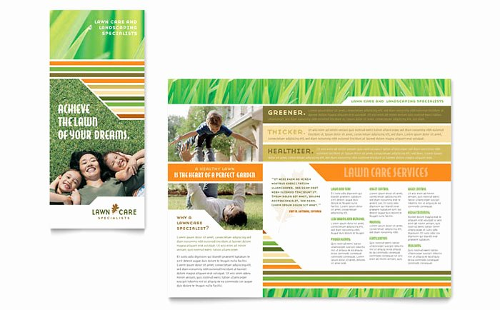 Lawn Care Flyer Template Inspirational Lawn Care & Mowing Brochure Template Design