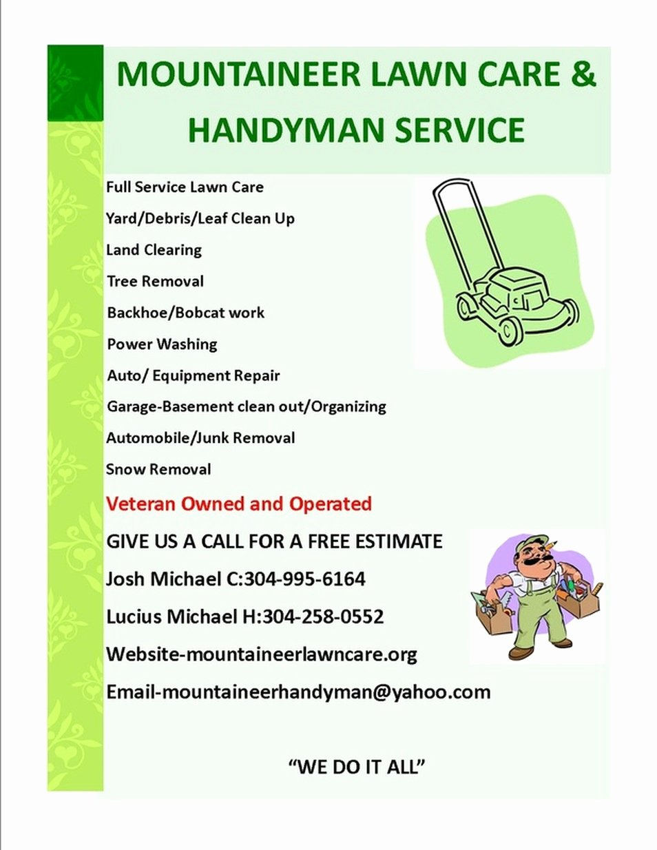 Lawn Care Flyer Template New High Quality Lawn Care Flyer 2 Lawn Care Service Flyer