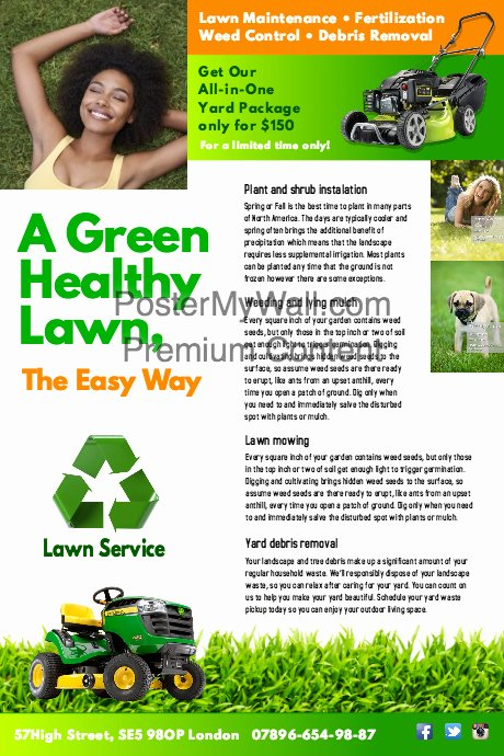 Lawn Care Flyers Template Awesome Lawn Service Flyer Template