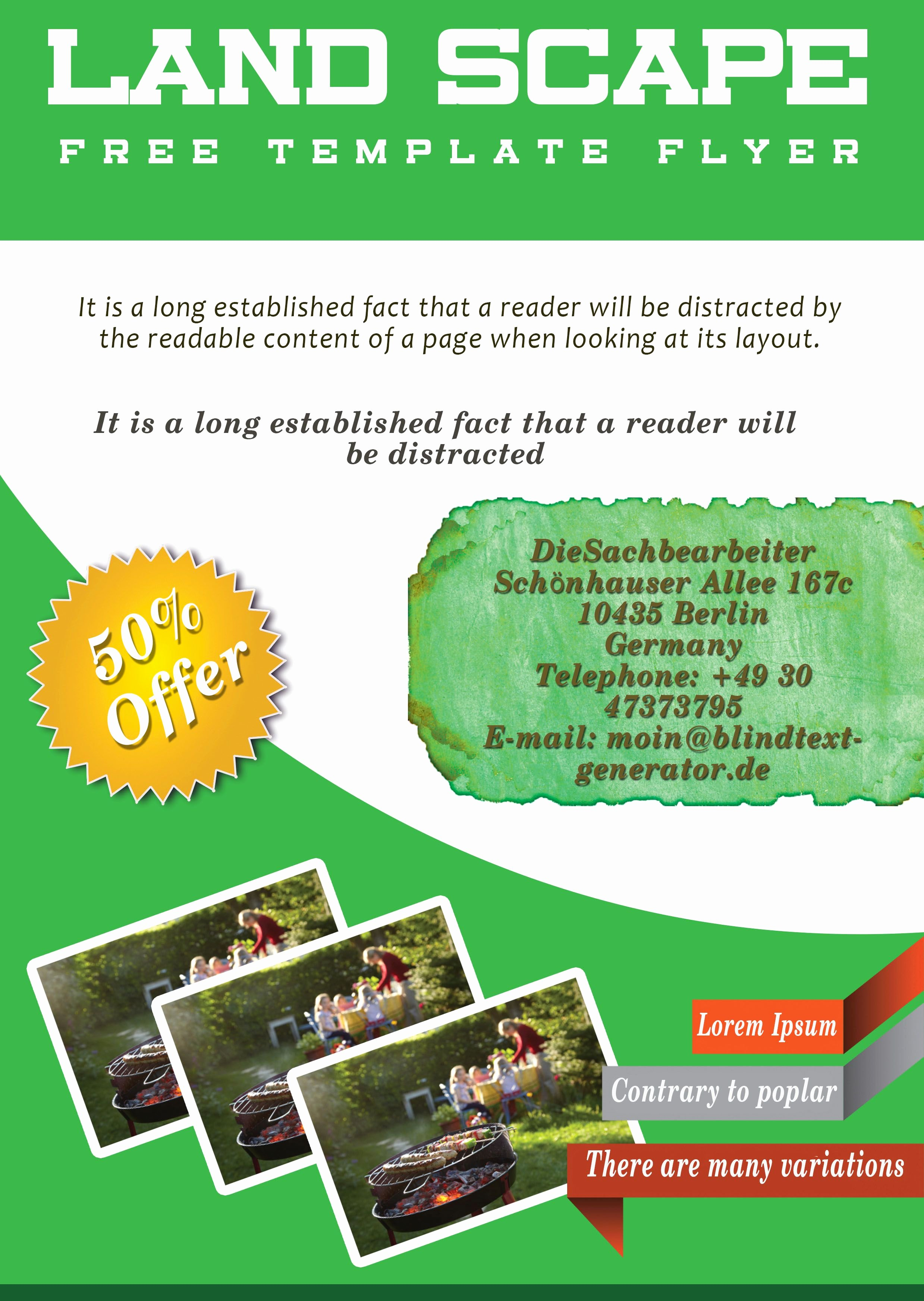 Lawn Care Flyers Template Beautiful Free Landscaping Flyer Templates to Power Lawn Care