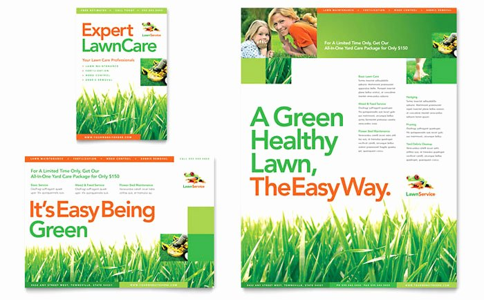 Lawn Care Flyers Template Beautiful Lawn Maintenance Flyer & Ad Template Design