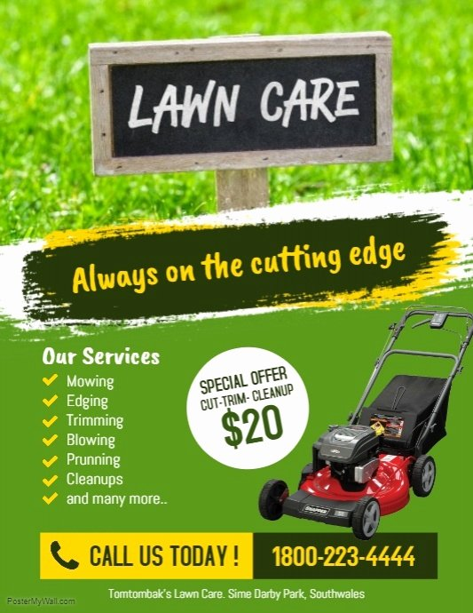 Lawn Care Flyers Template Best Of Lawn Care Services Flyer Poster Template