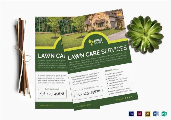 Lawn Care Flyers Template Elegant 27 Green Flyer Templates Psd Vector Eps