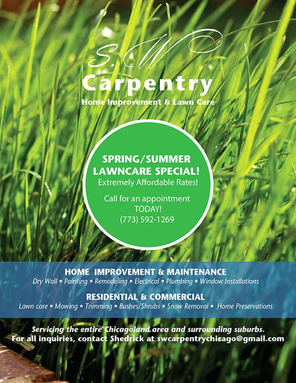 Lawn Care Flyers Template Elegant 29 Lawn Care Flyers Psd Ai Vector Eps