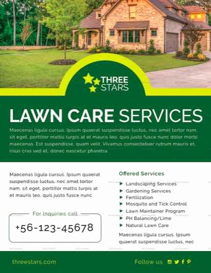 Lawn Care Flyers Template Elegant Lawn Care Flyer Templates