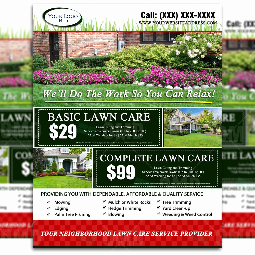 Lawn Care Flyers Template Fresh Lawn Care Flyer Design 2 – the Lawn Market