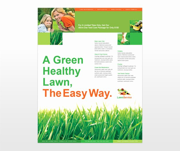 Lawn Care Flyers Template Inspirational 6 Best Of Brochure Templates Lawn Care Services