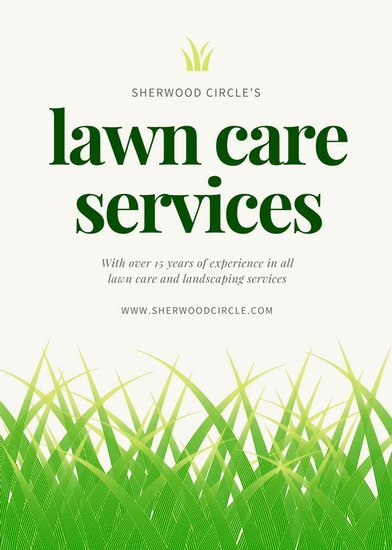 Lawn Care Flyers Template Inspirational Green Illustrated Grass Landscape Flyer Templates by Canva