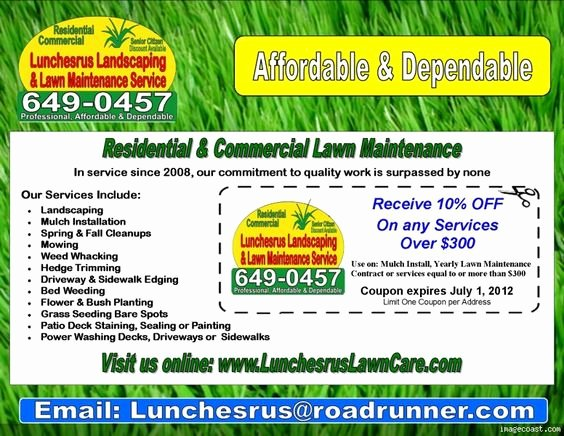 Lawn Care Flyers Template Unique Lawn Care Flyers