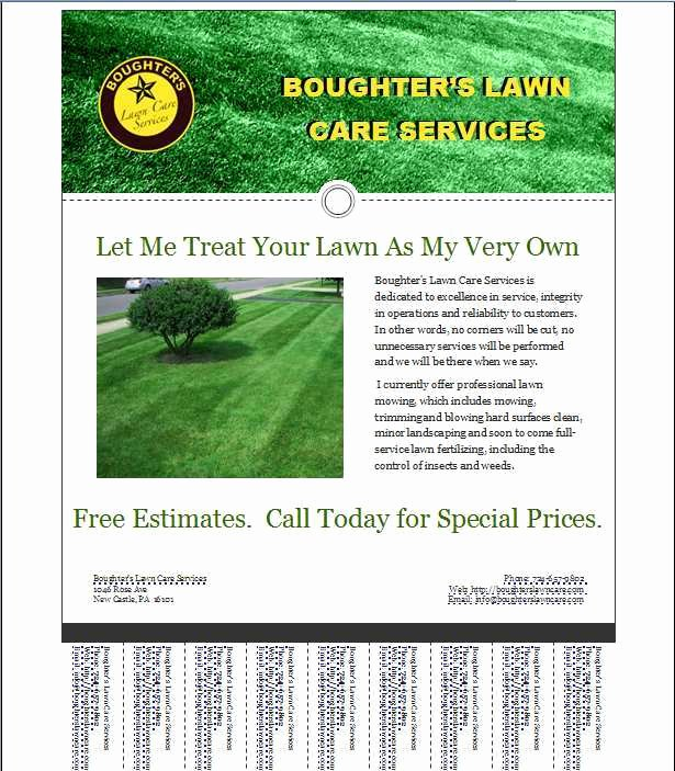 Lawn Care Flyers Template Unique Lawn Care Template Free