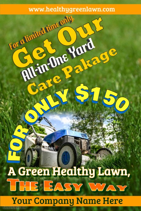 Lawn Care Flyers Template Unique Lawn Service Flyer Templates