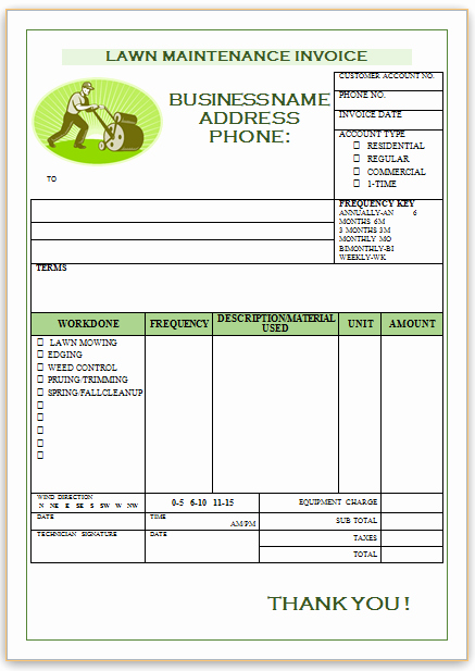 Lawn Care Invoice Template Awesome 10 Free Landscaping Invoice Templates [professional