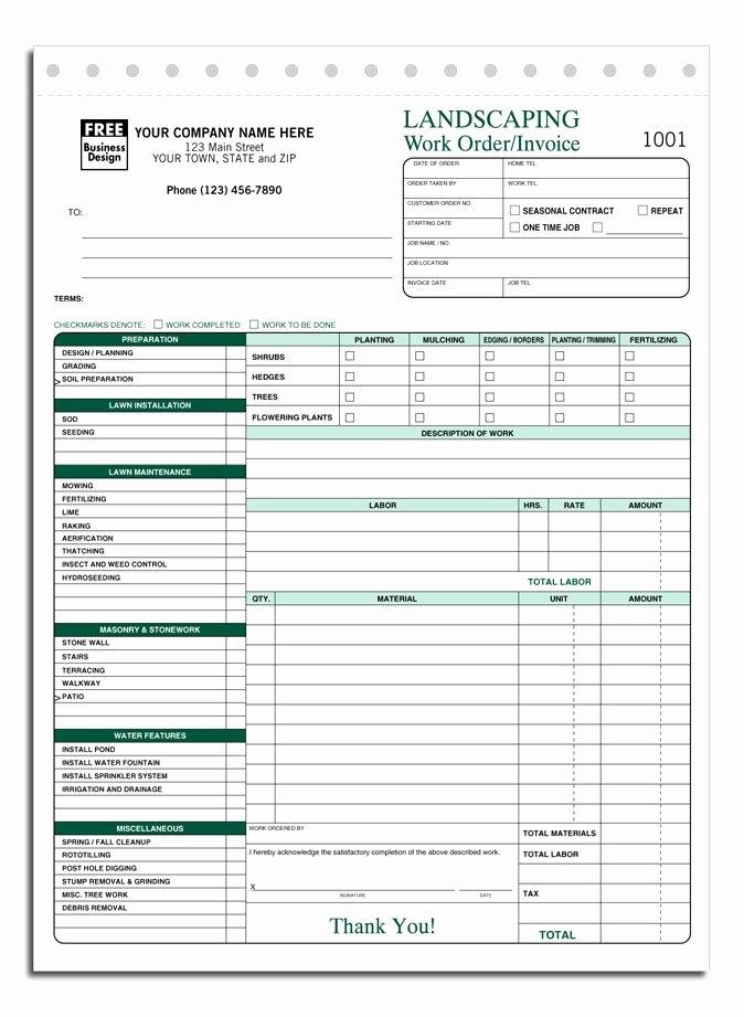 Lawn Care Invoice Template Fresh Lawn Care Invoice Template Free Denryokufo