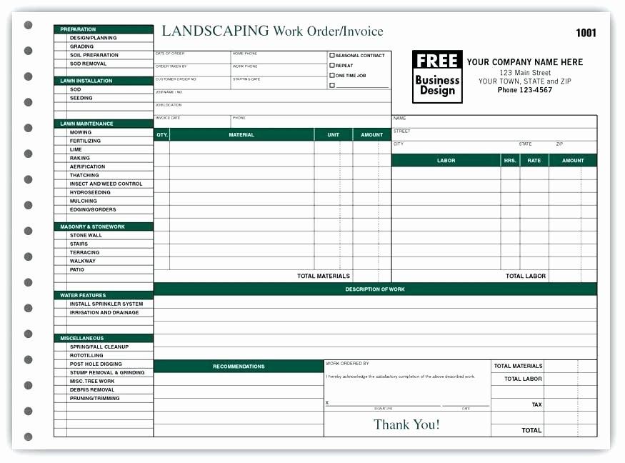 Lawn Care Invoice Template Fresh Lawn Maintenance Invoice Lawn Maintenance Invoice Lawn