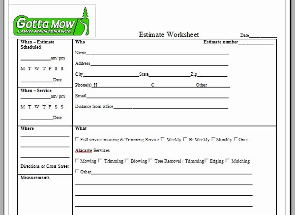 Lawn Care Invoice Template Lovely Lawn Care Service Quote Template Image Quotes at Relatably