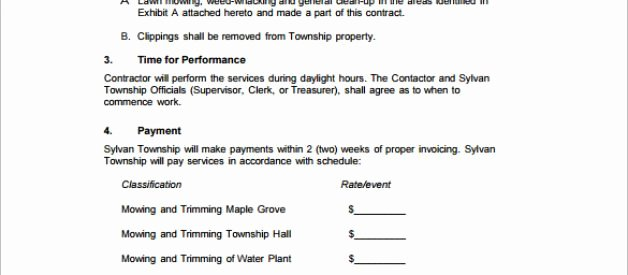 Lawn Care Proposal Template Lovely Free Lawn Care Proposal Template