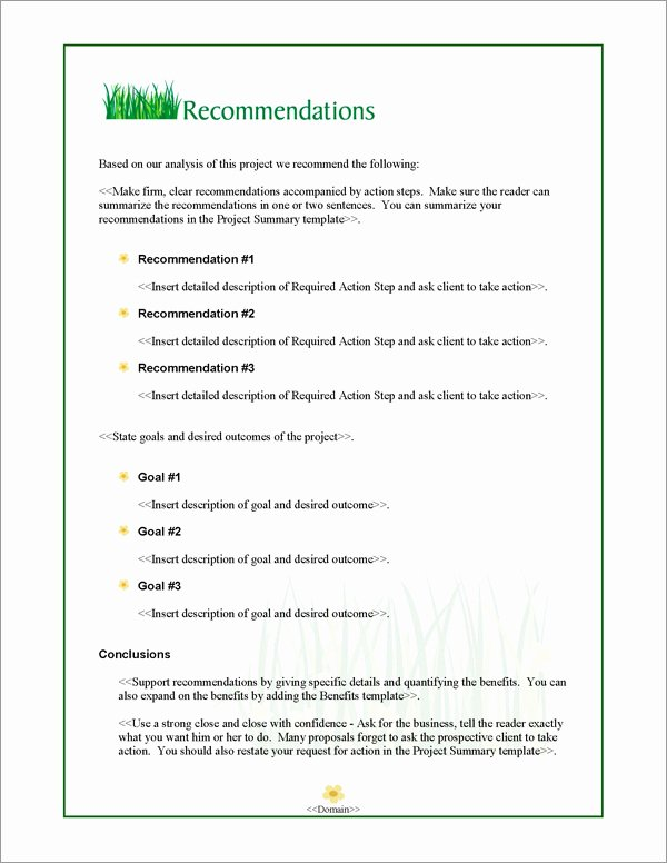 Lawn Care Proposal Template Lovely Proposal Pack Lawn 1 software Templates Samples