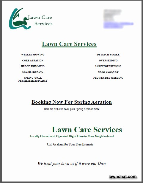 Lawn Care Proposal Template New Lawn Care Bid Templates