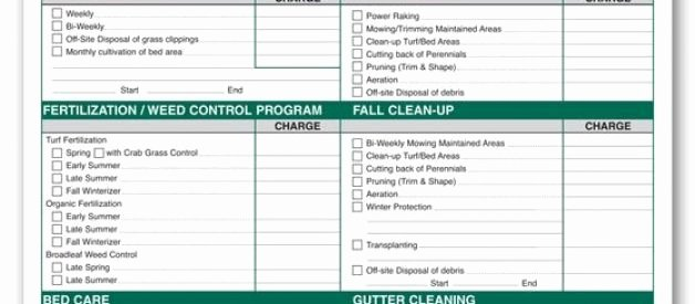 Lawn Care Proposal Template Unique Lawn Service Proposal Template Free