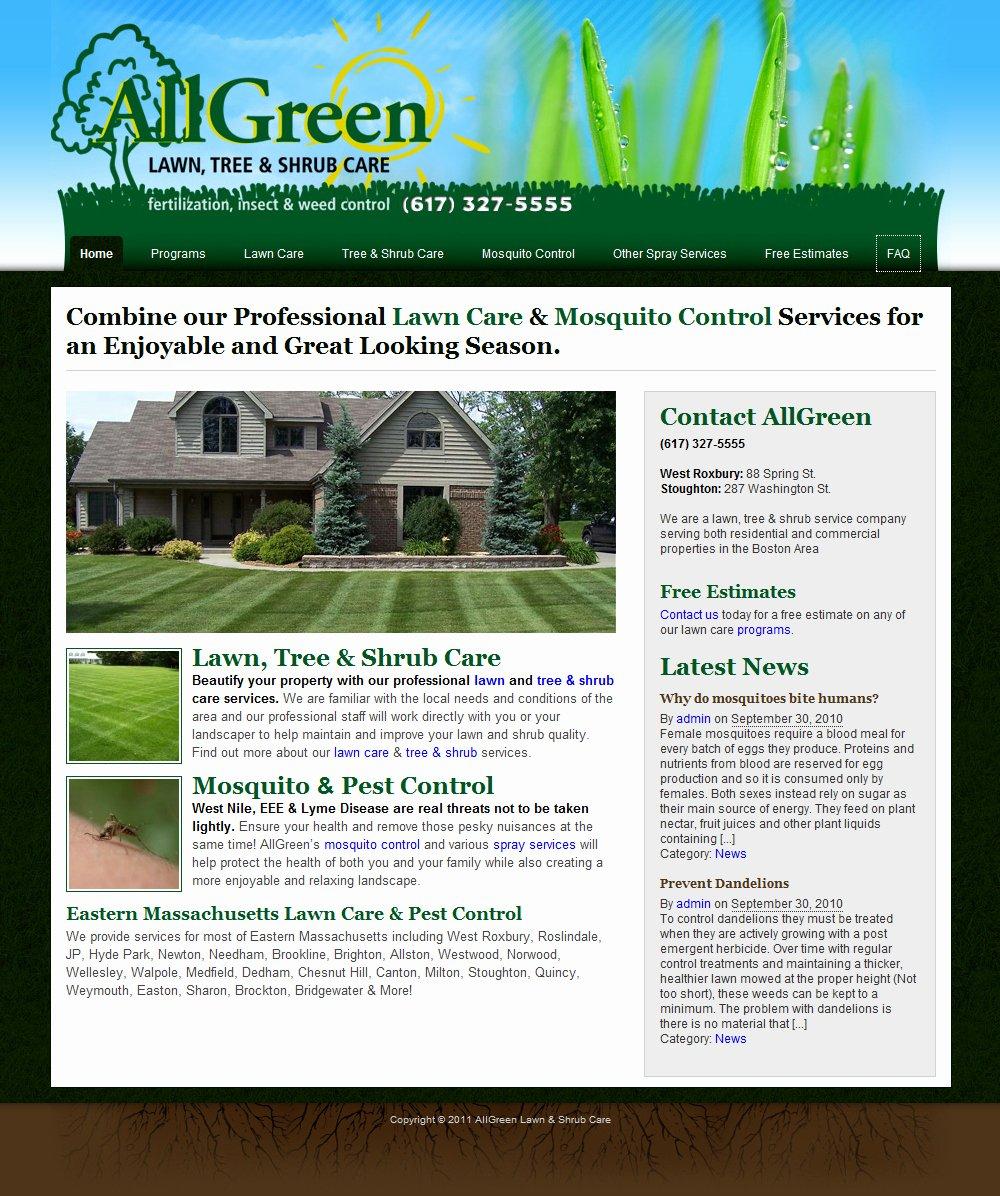 Lawn Care Website Template Beautiful Free Lawn Care Estimate Proposal forms Gopherhaul Ml