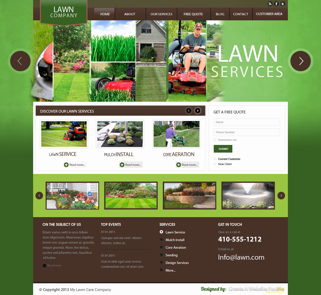 Lawn Care Website Template Best Of Lawn Care Premade Template Let Your Local Lawn Care